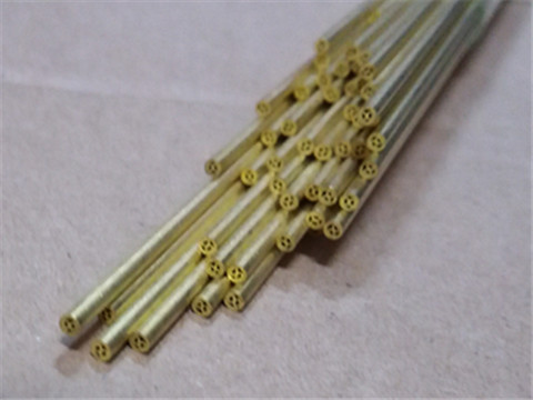 Multi channel brass tubes